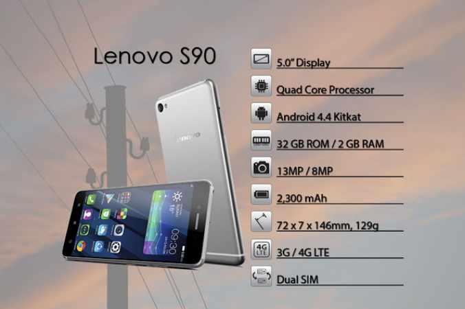 معاينة هاتف Lenovo S90